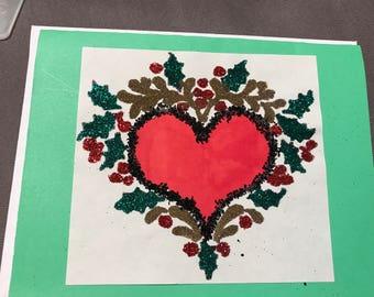 Christmas heart card