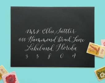 Envelope Calligraphy - Wedding - Modern - Whimsical - Outer Envelopes