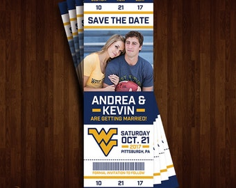West Virginia Univerity Mountaineers, WVU Save the Date Ticket