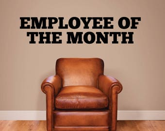 Employee of the month. - 0258 - Home Decor - Wall Decor - Award - Achievement - Performance