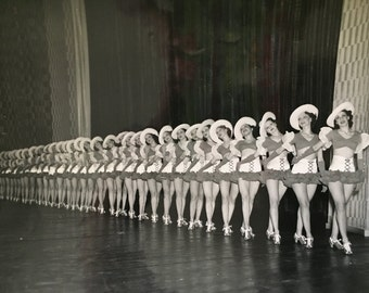 """Vintage Photograph Chorus Line Girls Chester Hale Dallas, 1937 """"Chester Hale Girls"""" Black and White Ephemera, Greater Texas Exposition"""