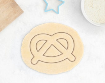 Pretzel Cookie Cutter - Classic Food Salty Snack Cookie Cutter - 3D Printed