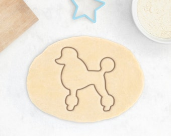 Poodle Cookie Cutter - Caniche Cookie Cutter Custom Poodle Cookies Poodle Owner Gift Personalized Poodle Gift Custom Dog Treat Pudelhund