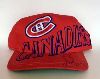 Vintage Montreal Canadians Snapback Hat by The Game Rare 90s NHL