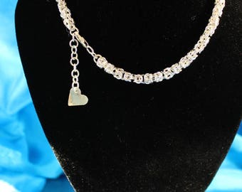 Byzantine necklace, hand made in sterling silver
