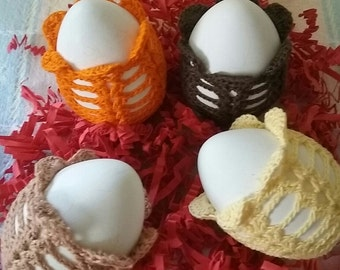 Crochet Easter Eggs,Crochet Easter Eggs set of 4,Crochet Easter,Crochet Easter Decoration,Crochet Easter Basket Decor,Handmade Easter Decor