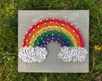 MADE TO ORDER- Mini Rainbow String Art
