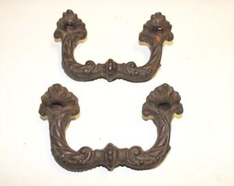 Cast iron ornate door handles