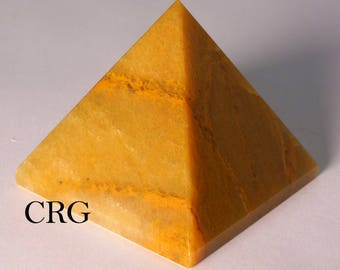 Yellow Quartz Pyramid 60-70mm (Qty-1) PY23DG small
