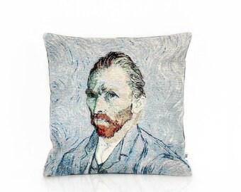 Vincent van Gogh pillow cover, Art cushion, Self portrait, Home Decor, Decorative pillow, Postimpressionisme, Throw Tosh, 18x18, Dutch