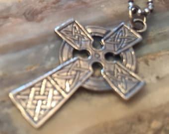 Cross Irish Celtic Religious Christian Pendant ONLY. Chain not invluded.
