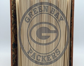 Cut & Fold Book Folding PATTERN~ Green Bay Packers ,  Mark and measure cut and fold, , Combi cut and fold,