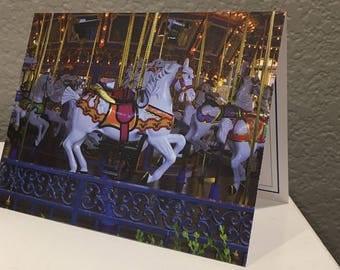 King Arthur Carrousel Disney Blank Card