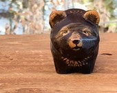 Hand Carved Wooden Bear...