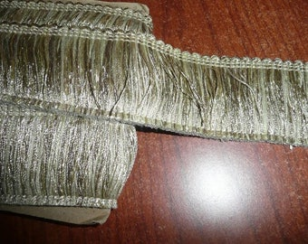2 Yards 2 Inch Wide Variegated Gold Brush Trim