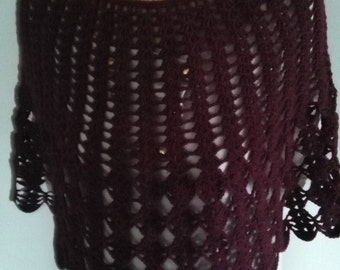 Poncho Rust Color
