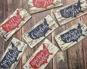 America sign, Patriotic decor, patriotic decorations, usa, patriotic signs, land that i love, 4th of july sign, let freedom ring