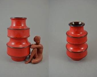 Vintage vase / Scheurich / 267 20 / Pagoda   West Germany   WGP   60s