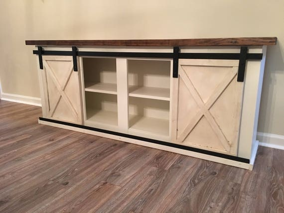 Custom Sliding Barn Door Cabinet Entertainment Center Entry