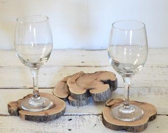 Set of 4 Wood Coasters