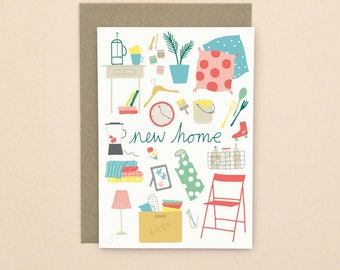 Illustrated New Home Card A6