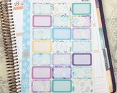Wild Salt Air Half Box Stickers! 1 punched sheet, for your Erin Condren Life Planner, Plum Planner,  Filoflax, calendar