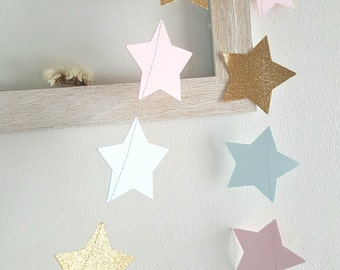 ON SALE!Twinkle Twinkle Little Star Garland/Gender Reveal Garland/Baby shower/ BABY garland/Gender reveal star garland/Gender reveal banner