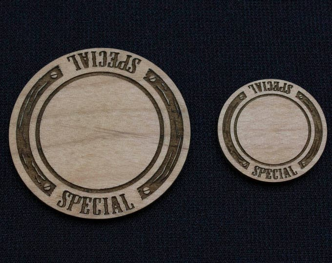 Malifaux - Solid Wood Special (writable) Tokens