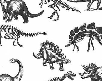 Boy Baby Bedding |Black White Monochrome Crib Sheet | Charcoal Bones Crib Bedding | Dinosaur Nursery | Standard Crib Sheet Changing Pad