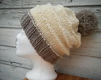 Cap * Knit Beanie * Beanie * has * wool * hand knitted!