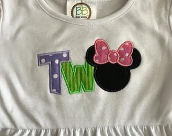 Girl Mouse Birthday Ruffle Dress