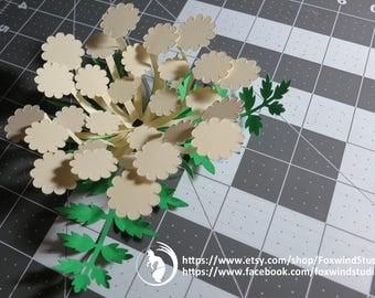 3D Paper Flower SVG Queen Anne's Lace