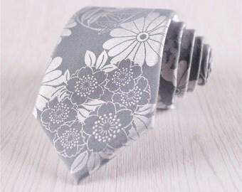 floral ties.silver gray necktie.wedding neckties.vintage ties.neck ties for men.groomsman ties.floral jacquard ties.designer ties+nt.142s