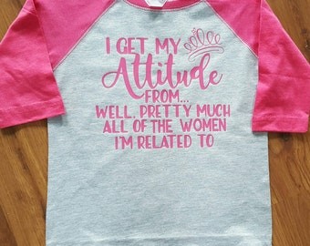 I get my attitude...