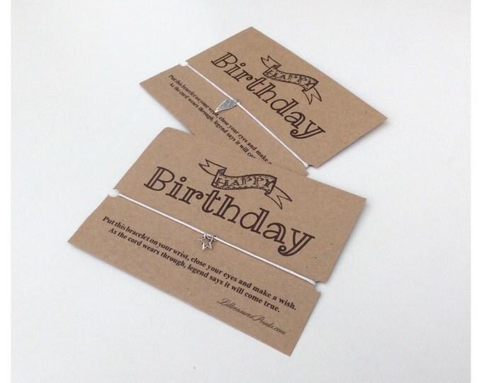 Birthday wish bracelet | Friendship Bracelet | Wish band | Christmas Gift | Charm Bracelet & Card. Can be personalised.