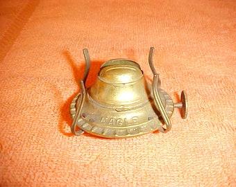Antique-Brass-No-1-EAGLE-Burner-7-8-Thread P-and-A Kerosene-Oil-Lamp