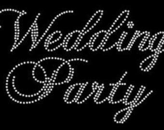 Custom Rhinestone Wedding / Bridal Party Apparel