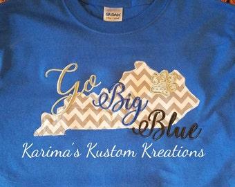 KY embroidered shirt/ Wildcats shirt/ Kentucky embroidered shirt/ KY tshirt/ KY sweatshirt