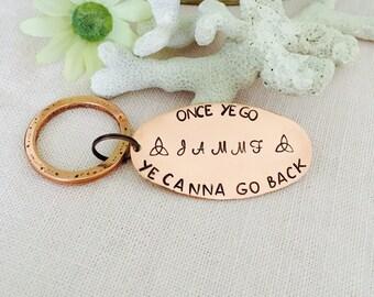 Gaelic, Scottish Copper Handstamped keychain