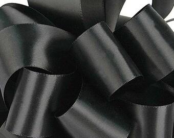 "New 5 yards Single Faced Black Satin Ribbon 5/8"" wide, Black Satin Ribbon"