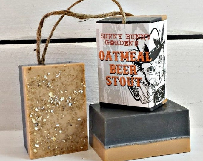 Oatmeal Stout Soap-On_A-Rope for Men, Beer Soap, Oatmeal Soap For Guys, Soap For Men, Stout Beer Soap, Funny Gifts For Men, Stocking Stuffer