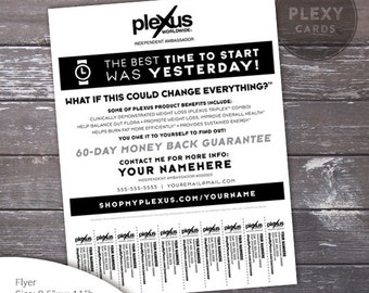 Plexus Black and White Promo Flyer - With Tear Off Tabs [Digital File]