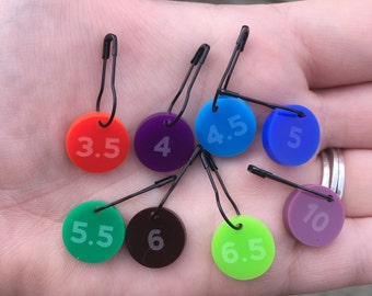 Hook Size Stitch Marker - Set of 4