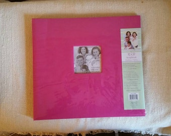 NEW Large Pink Expandable Scrap Book Album, Craft Supplies, Scrapbooking