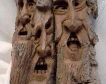 Spectacular Grimm Inspired Hand Carved Cottonwood Bard Family Tree Comes To Life Tree Spirit #2