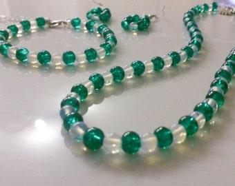 Moonstone jewelry set green