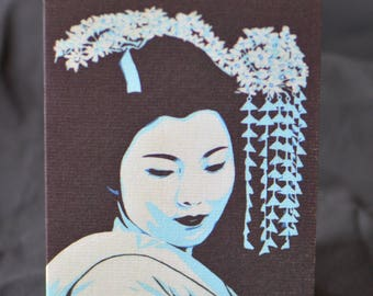 Geisha Greeting Card - Orient, Japan, Far East, Collage, PopArt, Art Cards china birthday beautiful
