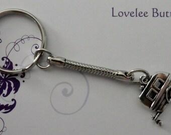 Caravan Key Ring Cute Silver Trailer Camper Silver Key Ring Handmade Jewellery Accessories