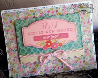 Friendship/Encouragement/Love Card - Blank Inside