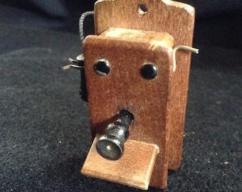 Vintage Miniature Shackman Wall Phone and Mirror